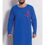 Pánská noční košile s dlouhým rukávem Kotva