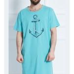Pánská noční košile s krátkým rukávem Velká kotva