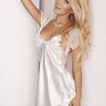 Saténová košilka Klara bílá