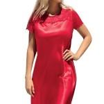 Saténová noční košilka Louise červená
