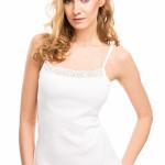 Spodní košilka Violana Kenya white – ramínka