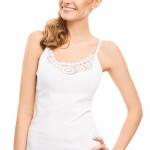 Spodní košilka Violana Ofelia white – ramínka