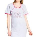 Těhotenská a kojící noční košile Mina šedá