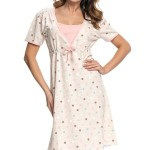 Těhotenská/kojící noční košile Dn-nightwear TCB.4044