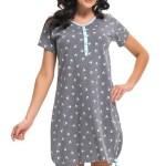 Těhotenská/kojící noční košile Dn-nightwear TM.9202