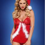 Vánoční kostým Santacutie babydoll – Obsessive